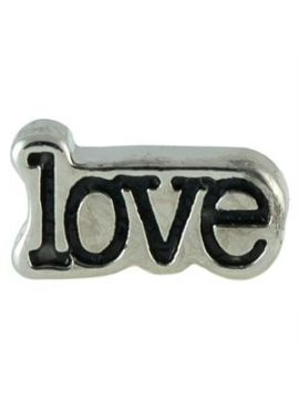 Love with Black Enamel Charm