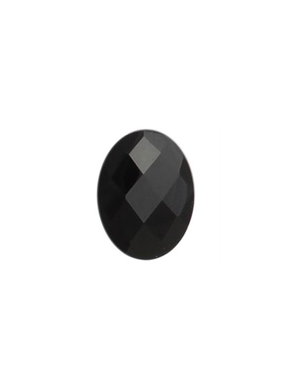 Black Agate Oval Stone
