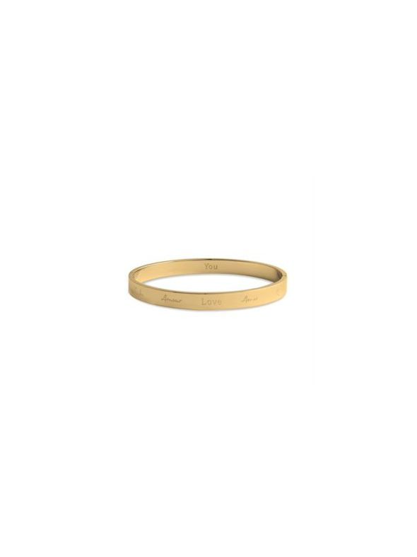 'Love' Gold Bangle