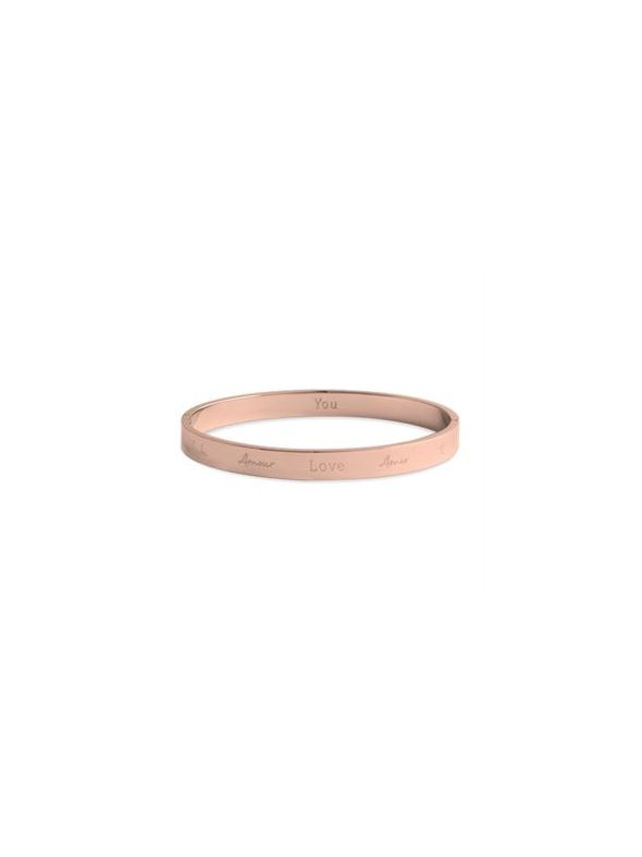 'Love' Rose Gold Bangle