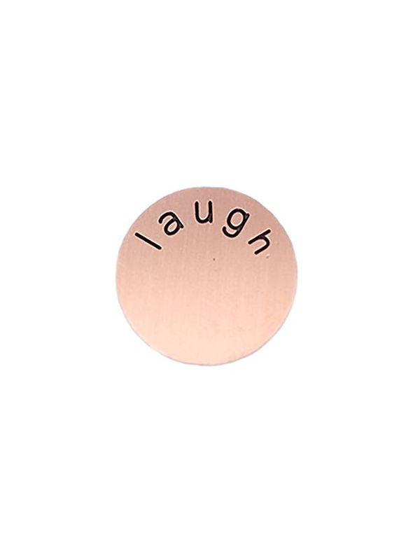 'Laugh' Medium Rose Gold Coin