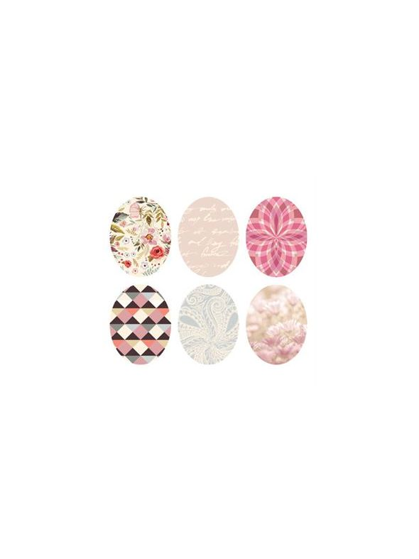 Pastel Print Oval Locket Backdrops