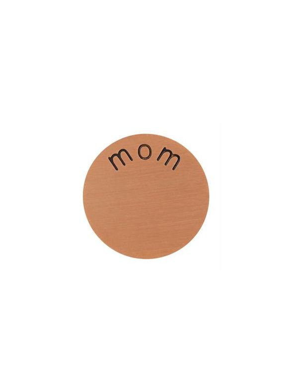 'Mom' Mini Rose Gold Coin