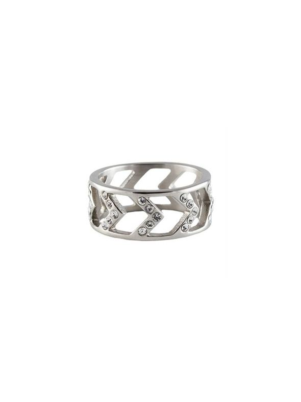 Silver Chevron Ring - Size 9