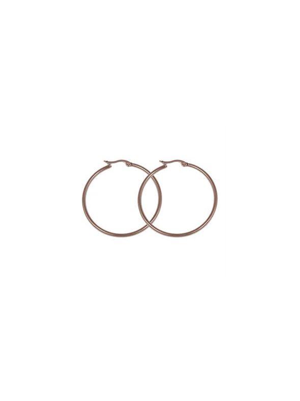 Rose Gold Round Hoop Earrings