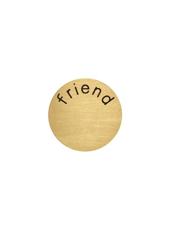 'Friend' Medium Gold Coin