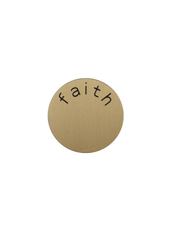 'Faith' Medium Gold Coin