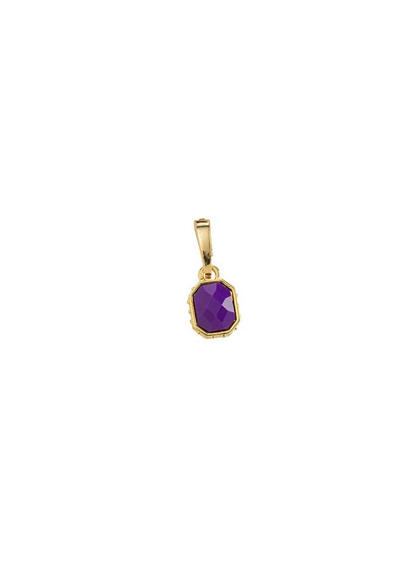 Faceted Violet and Gold Droplet