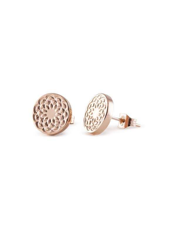 Rose Gold Flower Studs