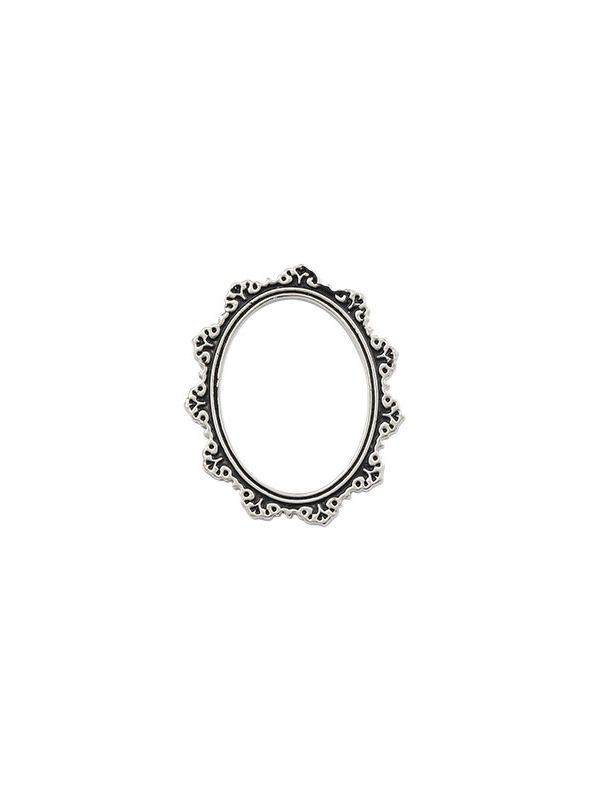 Antique Silver Oval Frame