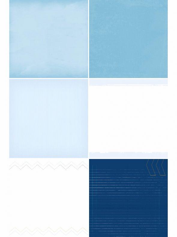 Blue Skies Designer Refill Pages - Set 18