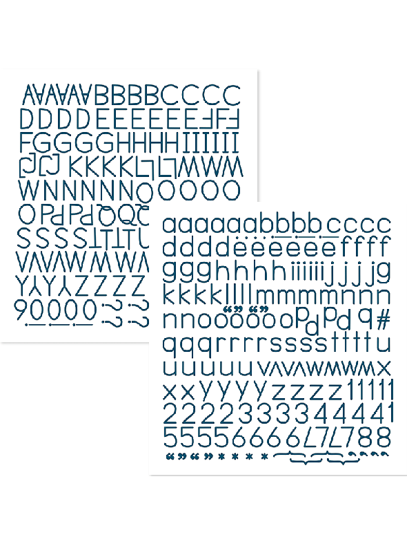 Happy Life Navy Alphabet Stickers
