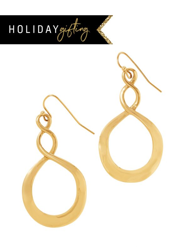 Infinity Hoop Gold Stocking Stuffer